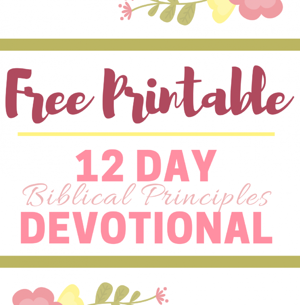 12 Day Devotional | Biblical Principles - Back 2 Basics
