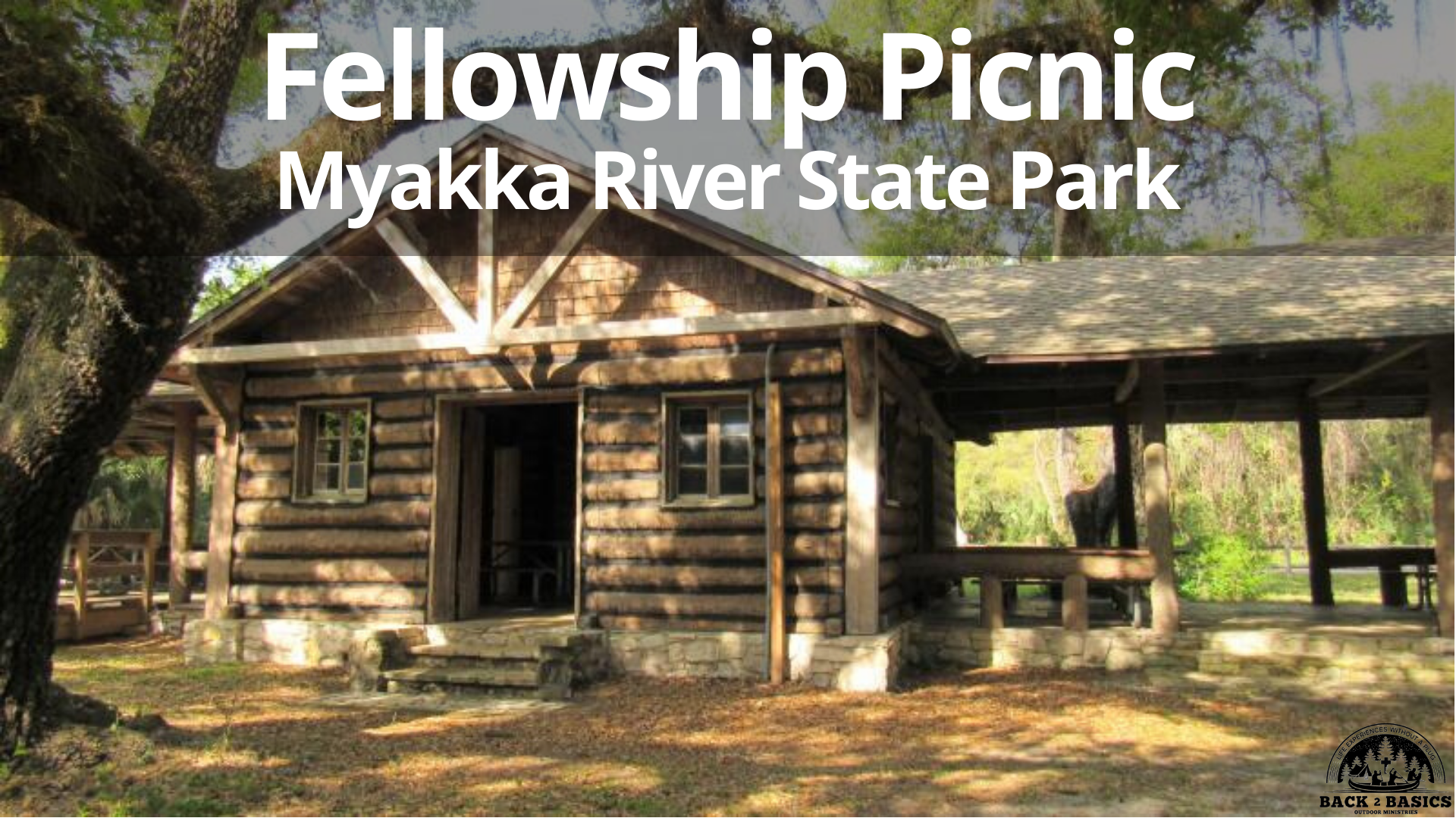 fellowship picnic, myakka river state park picnic, back2basics outdoor ministries